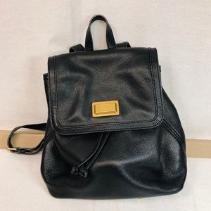 Marc Jacobs black leather  backpack